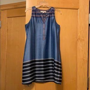 LOFT Sleeveless Striped Dress - Size small